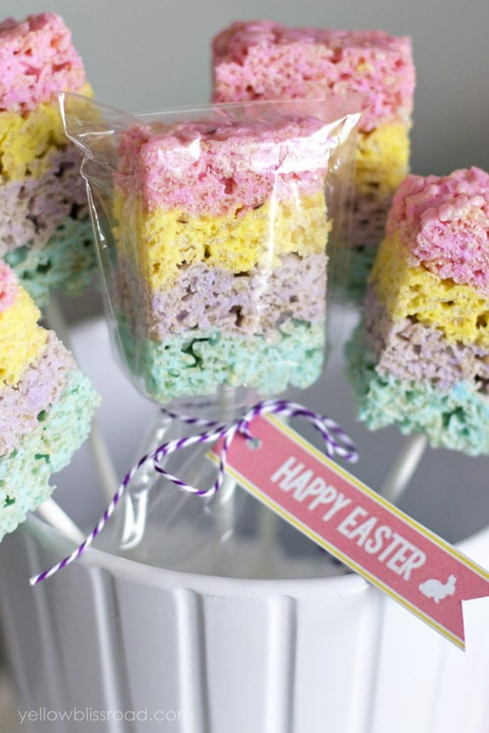 layered peeps crispy treats are rice krispie treats with a twist theyre made