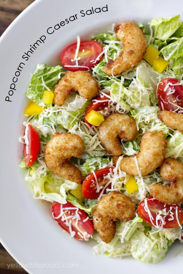 Popcorn Shrimp Ceasar Salad