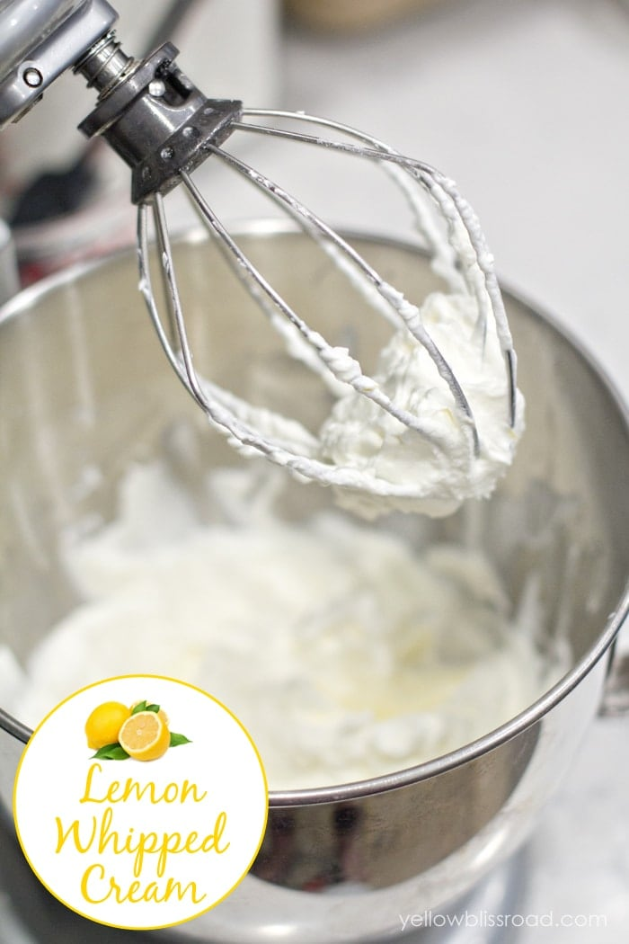 Sweet and Tart Lemon Whipped Cream