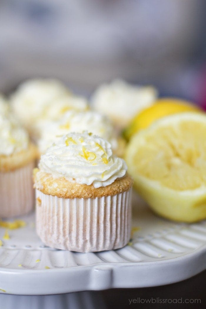 Lemon Angel Food Cupcakes Yellow Bliss Road