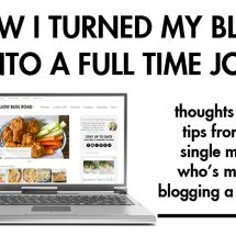 How I Turned My Blog into a Full Time Job, Part 1