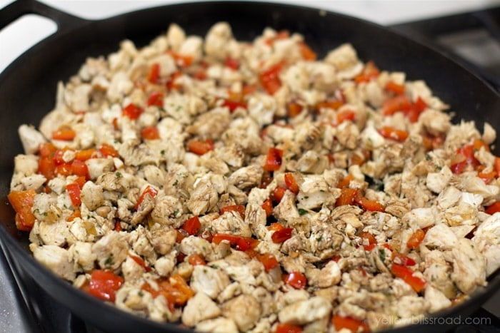 chicken and peppers