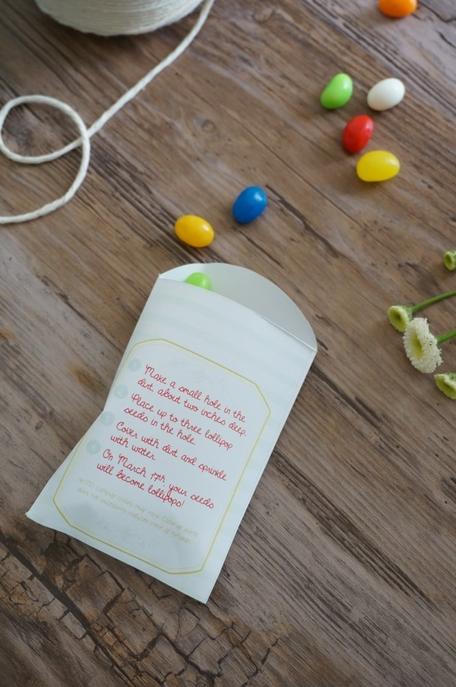 Free Printable Lollipop Seed Packets