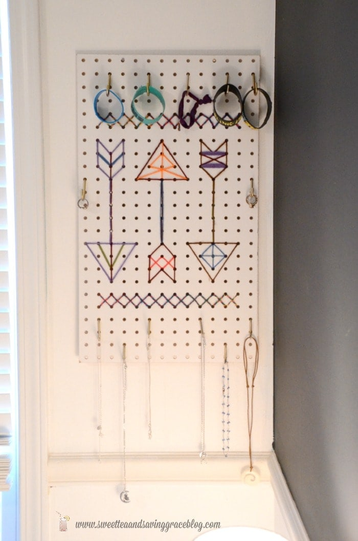 DIY Cross-Stitch Pegboard