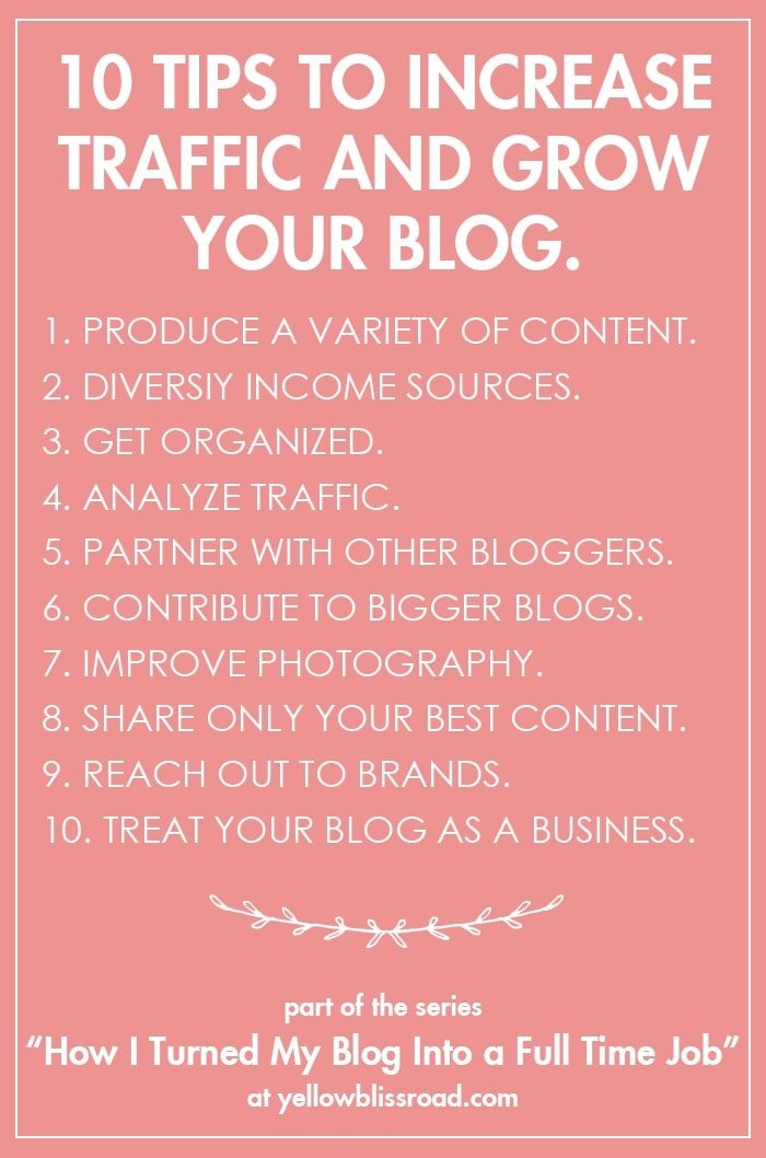 10 Tips to Increase Traffic and Grow Your Blog
