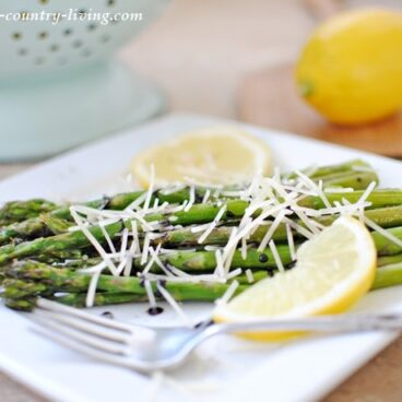 Balsamic Asparagus with Parmesan