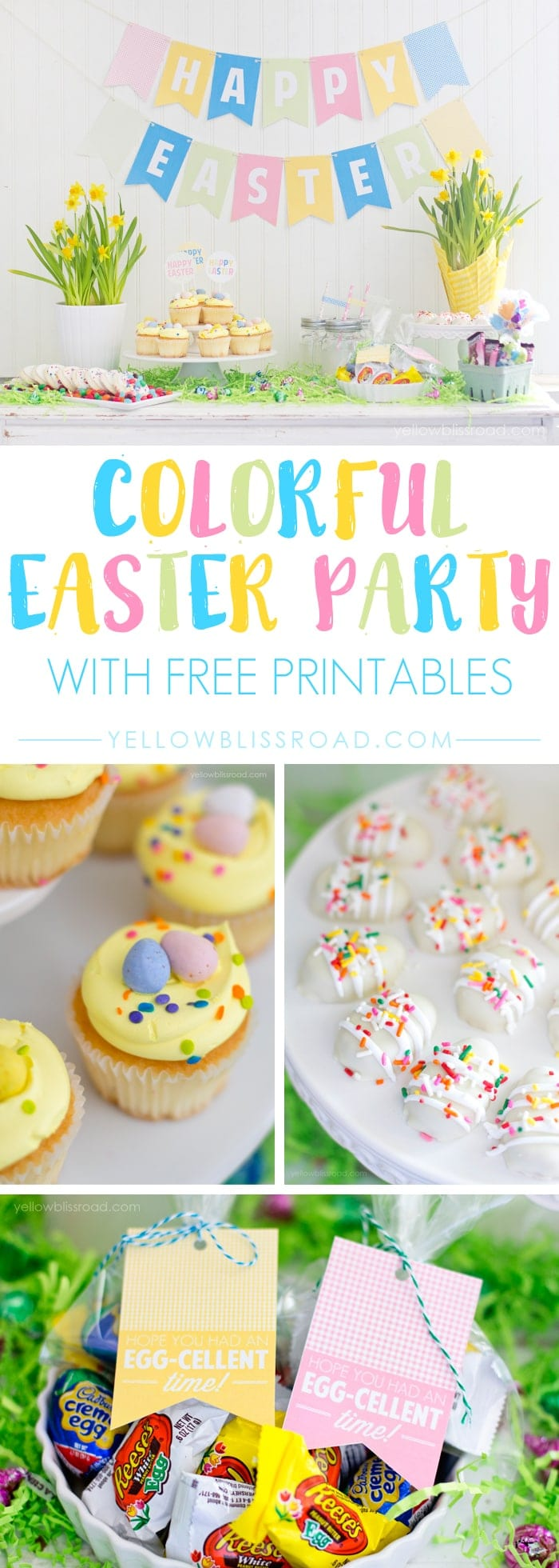 Cute and Colorful Easter Party Printables