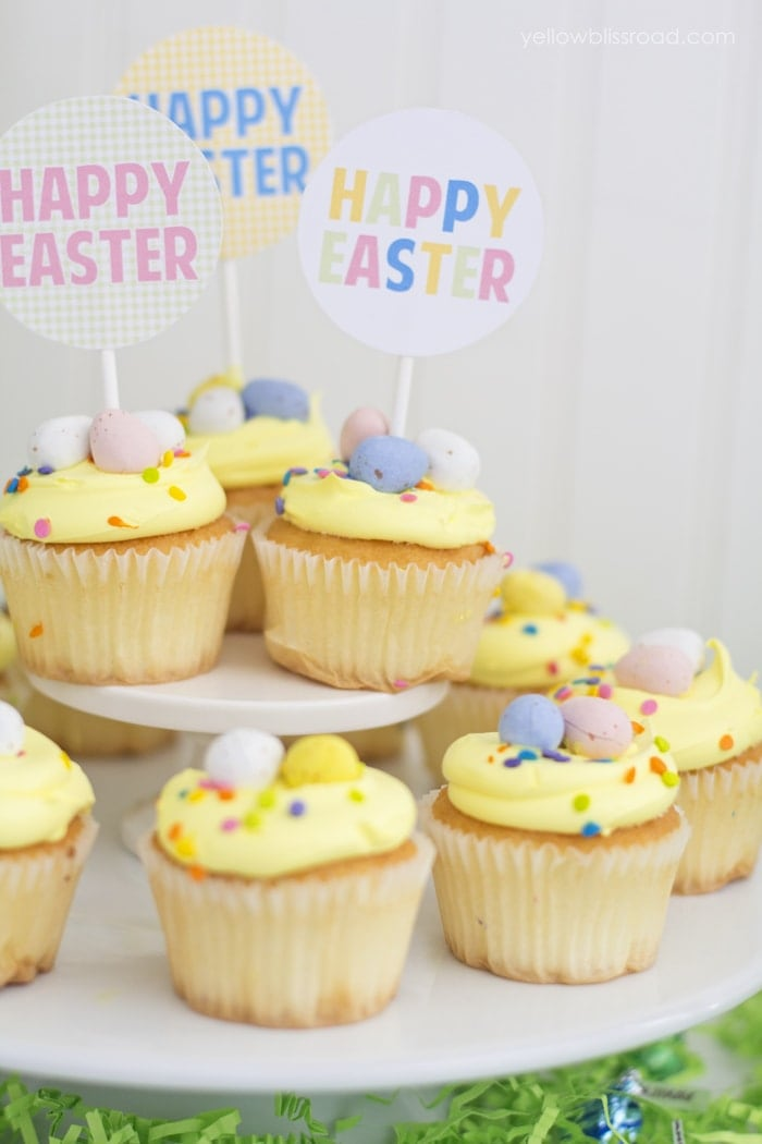 Dressed Up Store Bought Easter Cupcakes