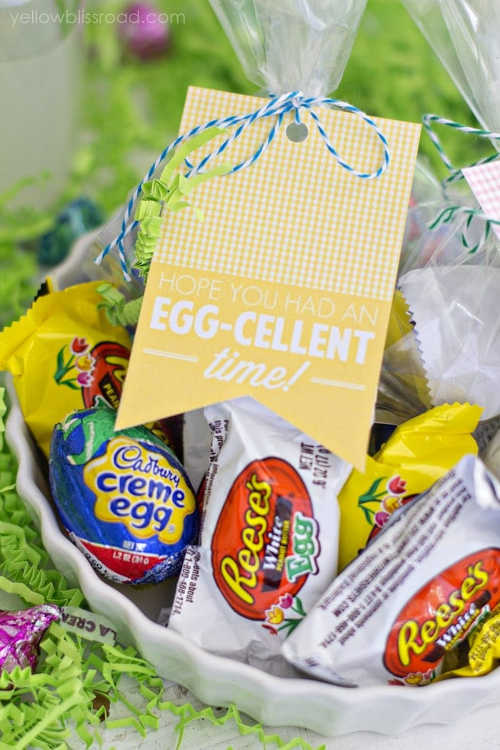 Easter Egg free printable gift tag