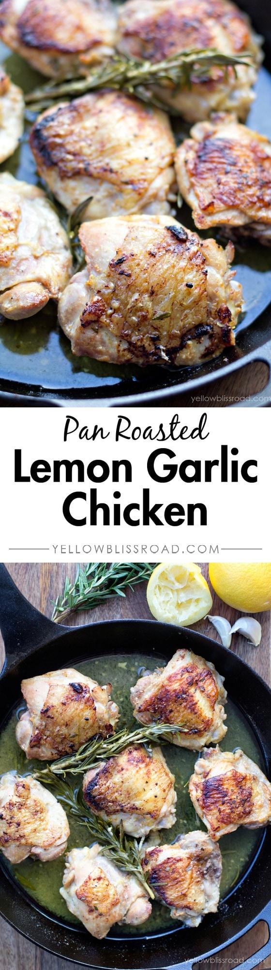 Pan Roasted Lemon Garlic & Rosemary Chicken
