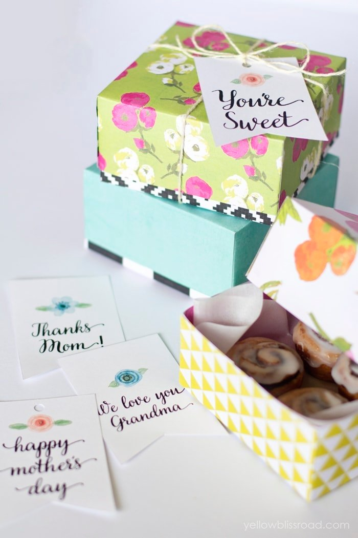 Sweet Treat DIY boxes and Printable Tags