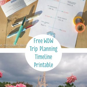 Free Printable Disney World Vacation Planning Timeline