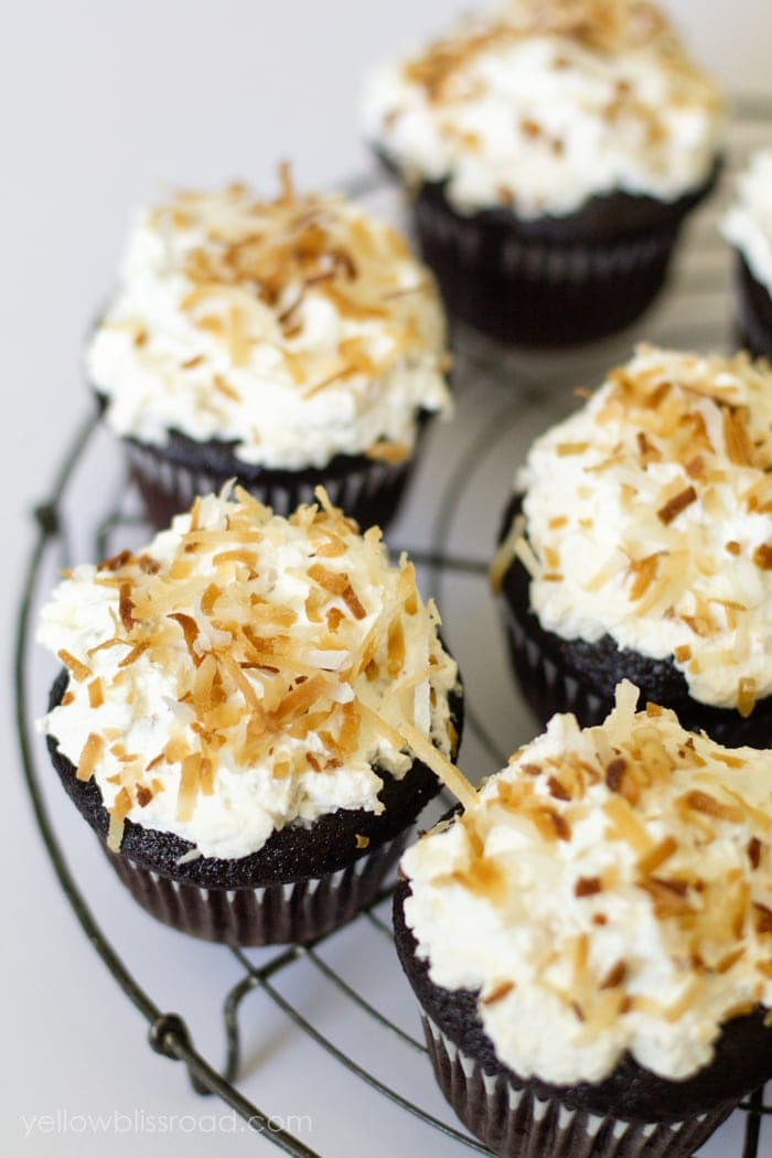 Toasted Coconut Chocolate Cupcakes 2