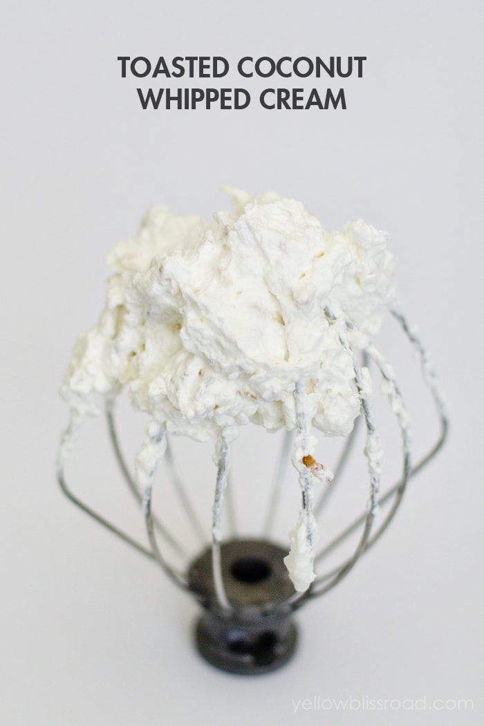 Toasted Coconut Whipped Cream
