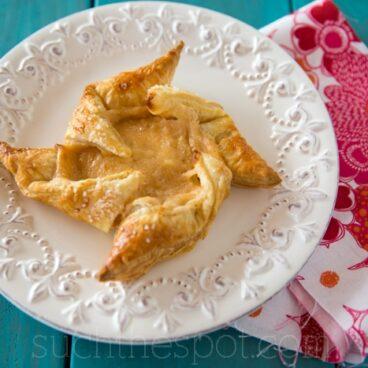 Apricot cheese pinwheels