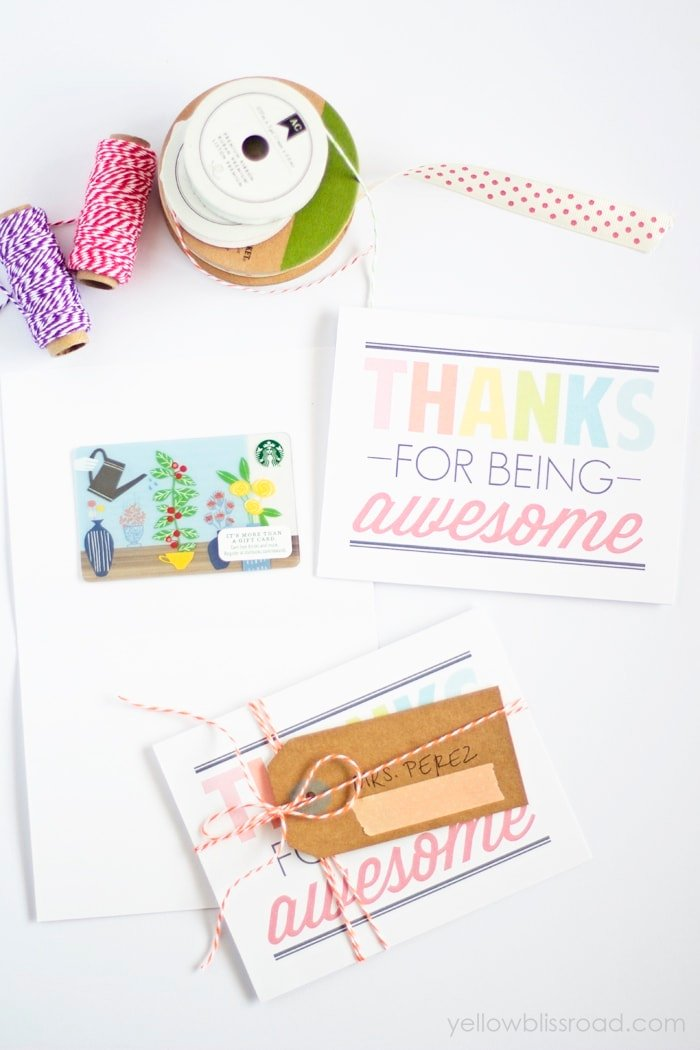 Awesome Thank you gift idea with card