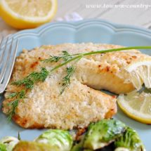 Broiled Tilapia Parmesan from Town and Country Living