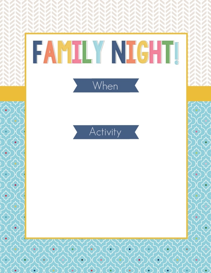 Family Night Printable