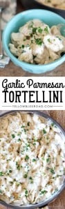 Garlic Parmesan Tortellini Alfredo - Ultra creamy and rich and ready in under 20 minutes!