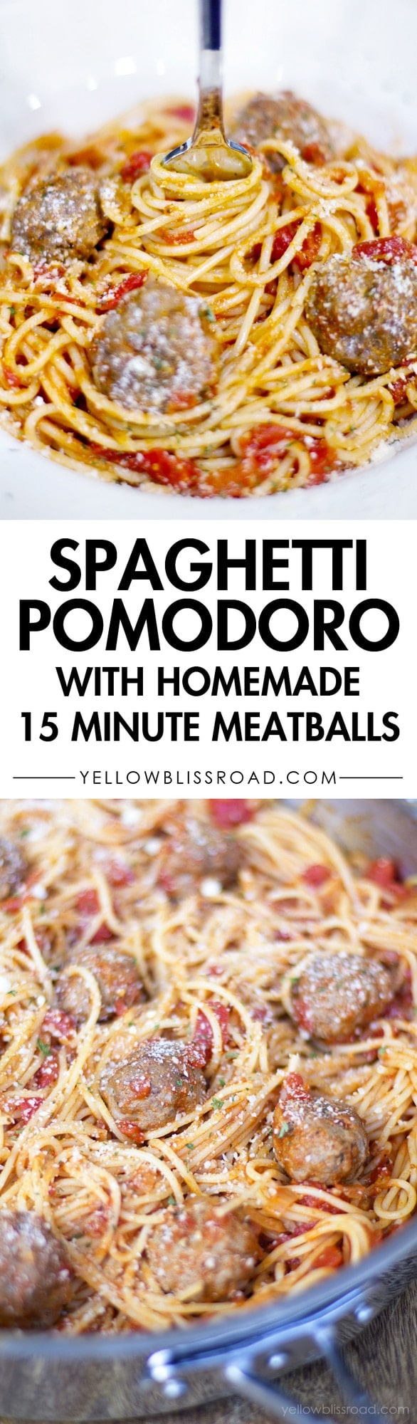 Spaghetti Pomodor with Homemade Meatballs