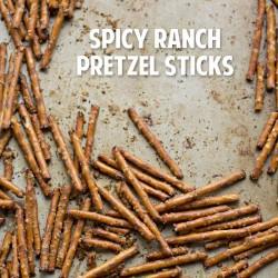 Social media image of Spicy Ranch Pretzel Sticks