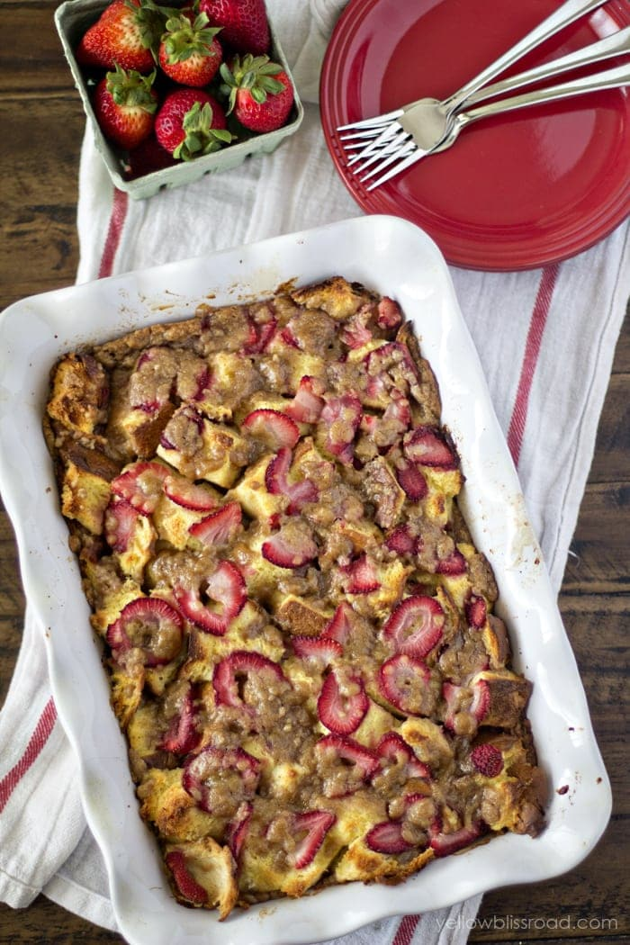 Strawberry Baked French Toast Recipe - Perfect for Sunday brunch or a lazy Saturday breakfast.