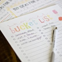 Free Printable Summer Bucket List