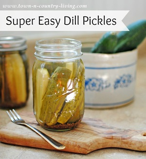 Easy Dill Pickles from Town and Country Living