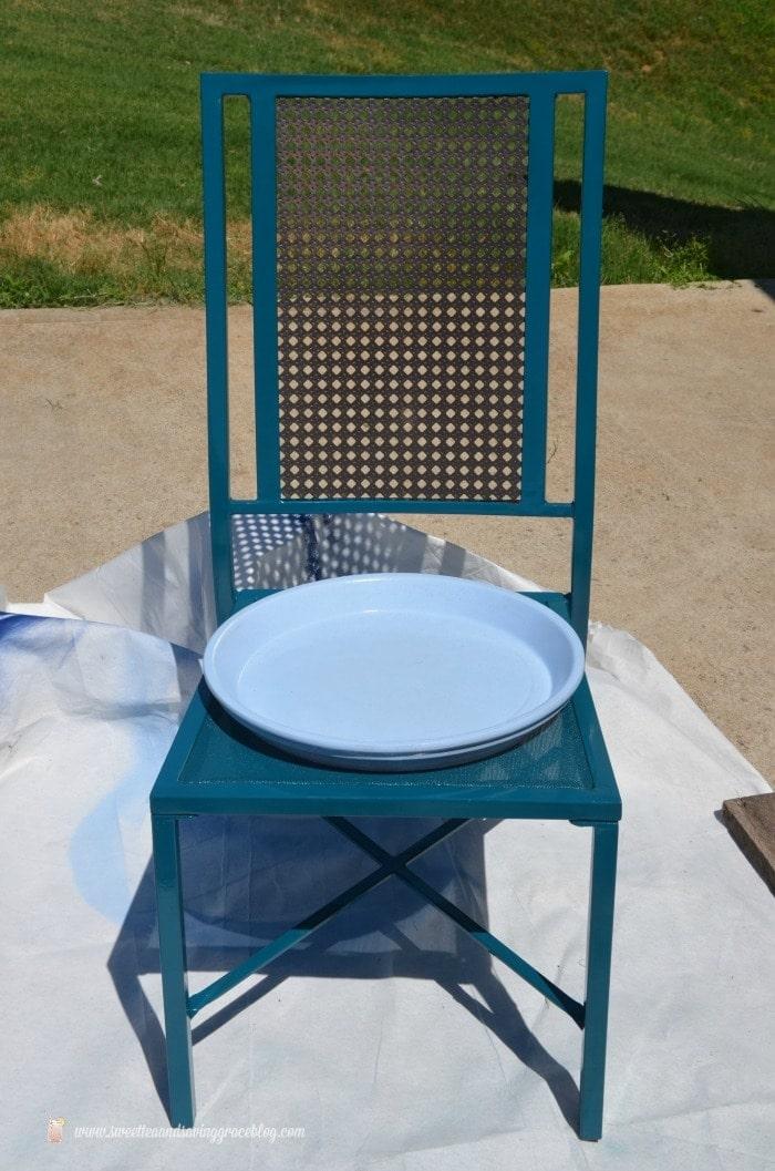 Upcycled Solar Bird Bath | Sweet Tea & Saving Grace