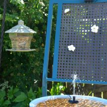 Upcycled Solar Bird Bath | Sweet Tea & Saving Grace