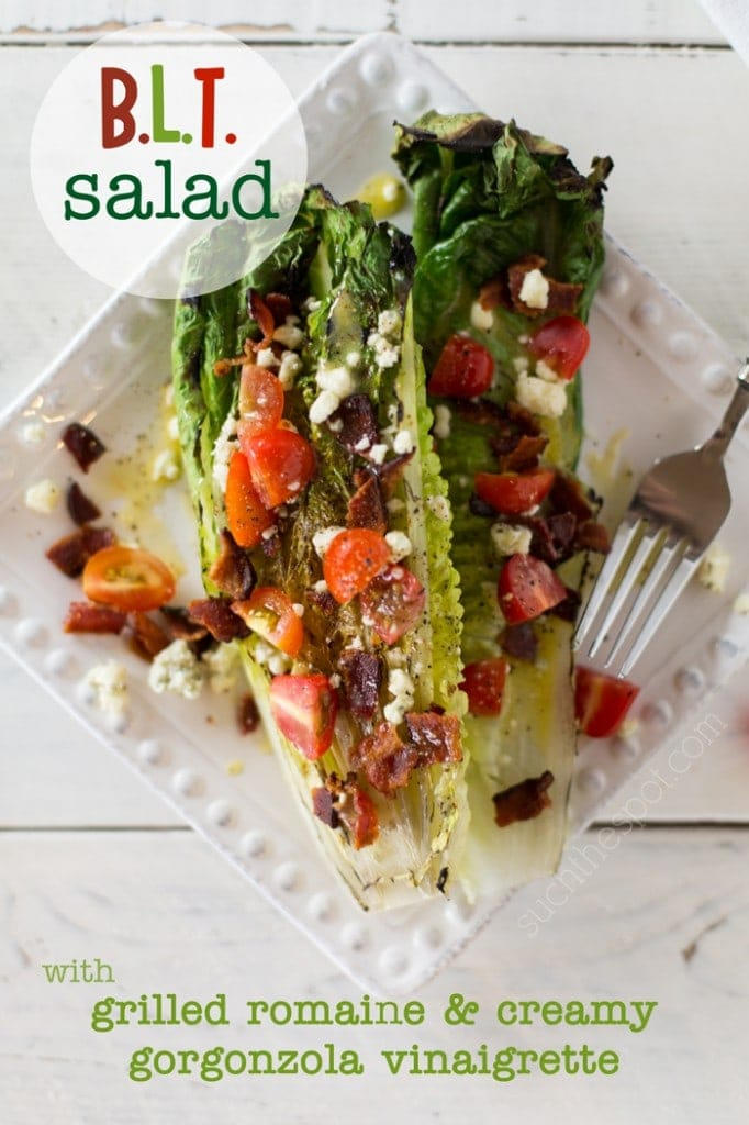 BLT salad with grilled Romaine & creamy Gorgonzola vinaigrette