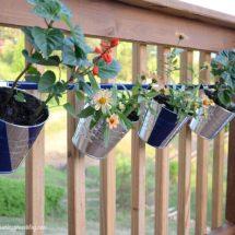 DIY Hanging Deck Flower Pots
