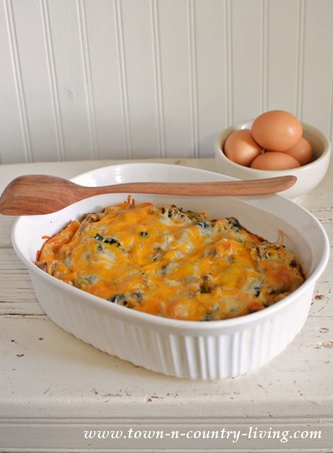 Spinach And Mushroom Egg Casserole Yellow Bliss Road
