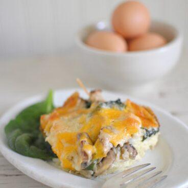 A plate of Breakfast Casserole