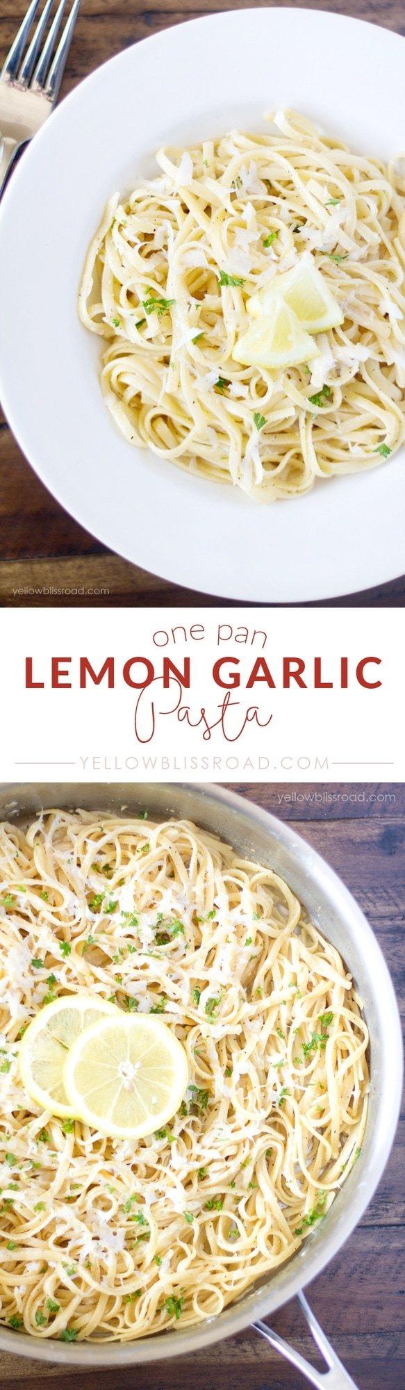 Five Ingredient One Pan Lemon Garlic Pasta