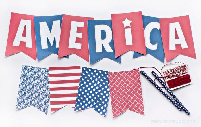 Free Printable America Banner