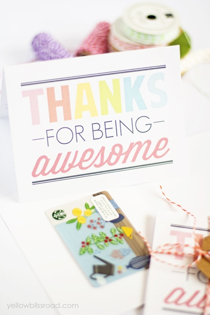 image relating to Printable Thank You Cards identified as No cost Printable Thank Your self Notes - Yellow Bliss Street