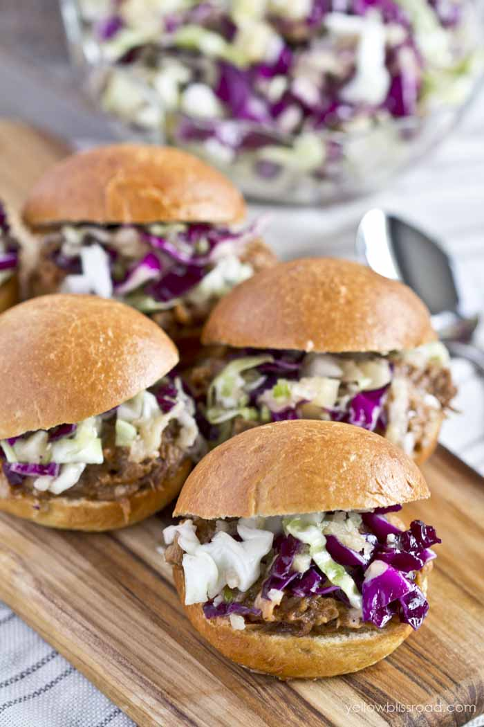 Slow Cooker Barbecue Pork Sliders