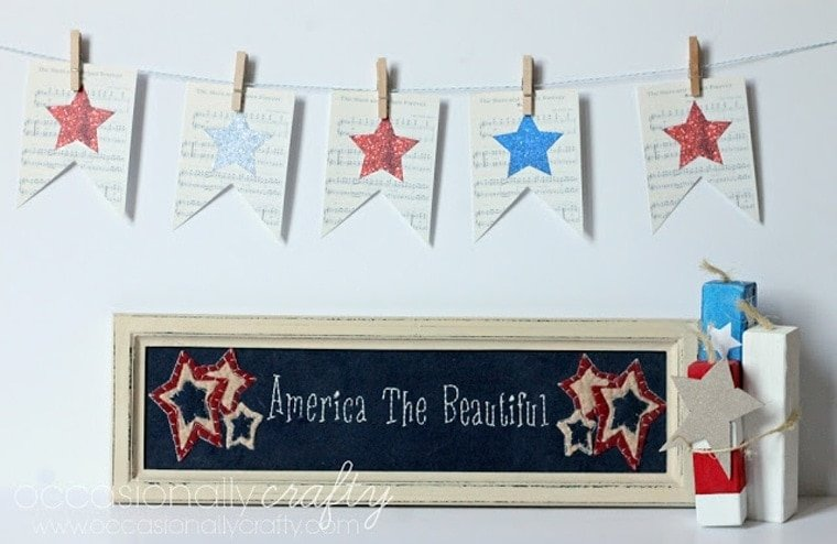 4th of July Printable Sheet Music Banner