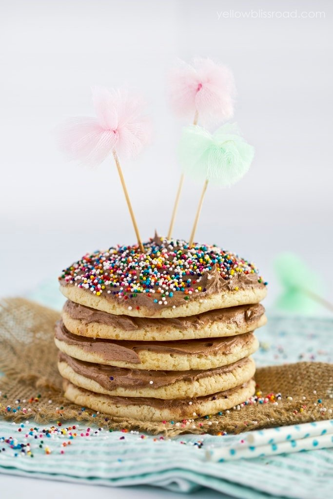 Birthday Cookie Cake Tower