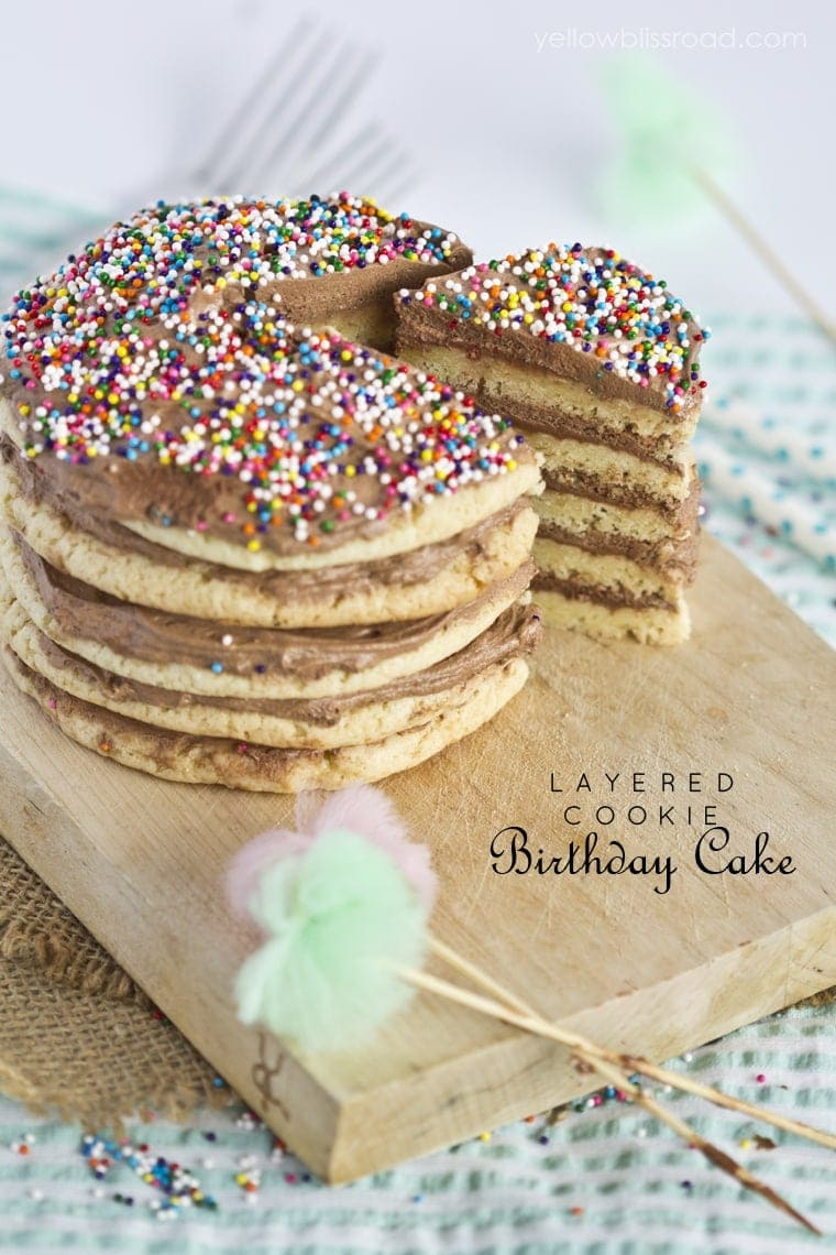 Layered Cookie Birthday Cake
