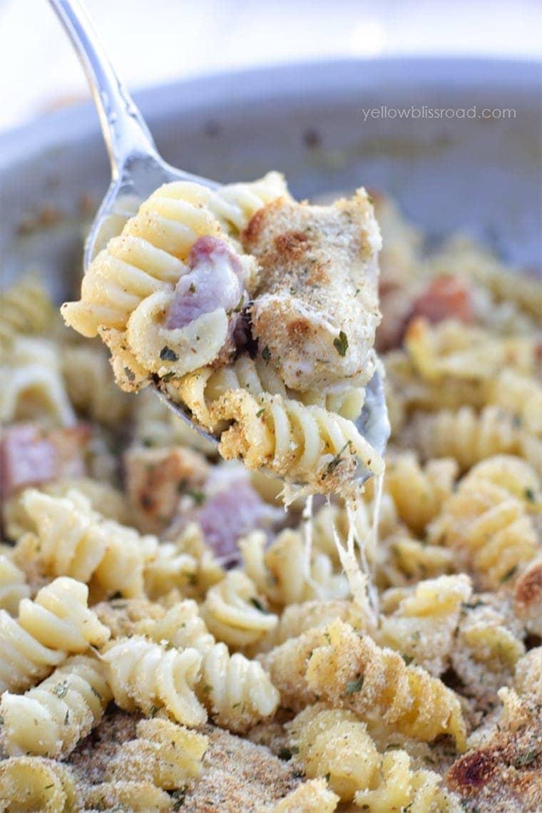 One Pan Chicken Cordon Bleu Pasta