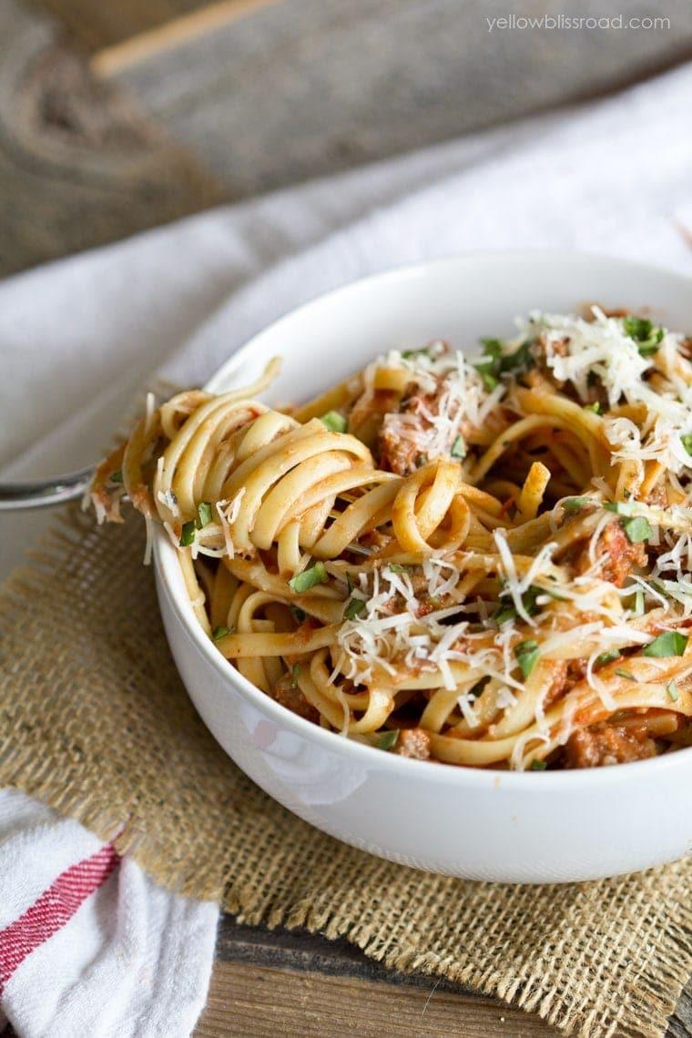 Spaghetti Sauce with fork