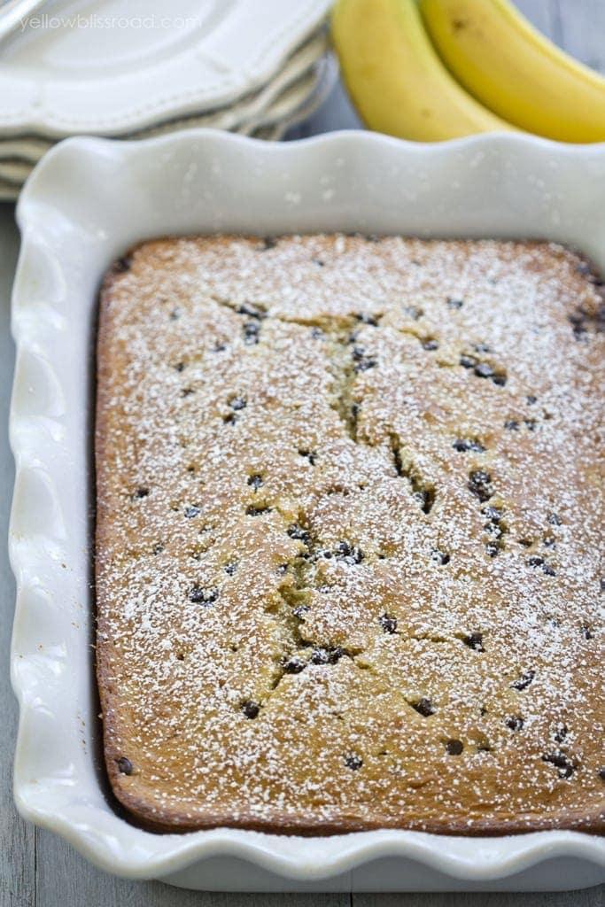 Chocolate Chip Cake Using Yellow Cake Mix