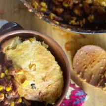 Chili and Cornbread Skillet
