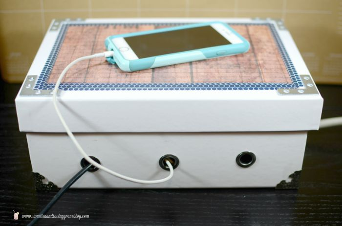 DIY Charging Station | Sweet Tea & Saving Grace