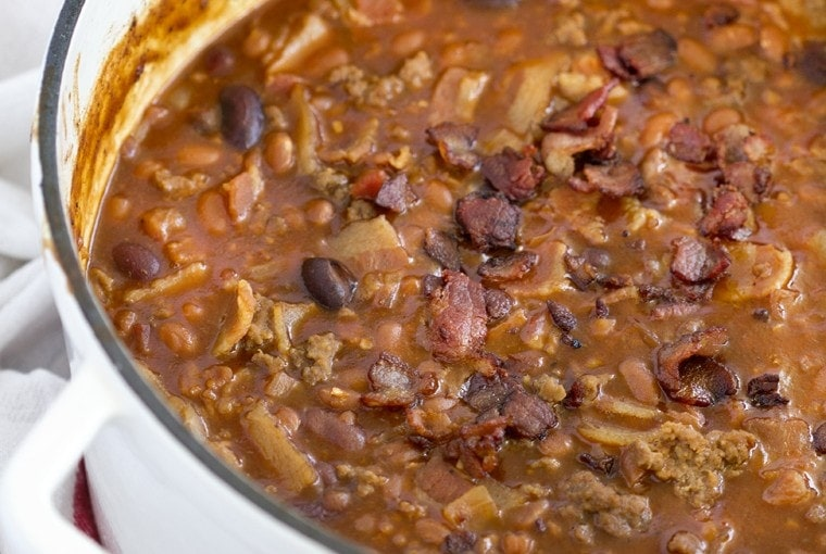 Beef & Bacon Baked Beans (aka Cowboy Beans)