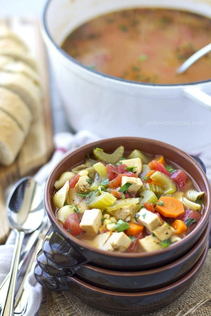 Hearty Chicken, Vegetable and Noodle Soup