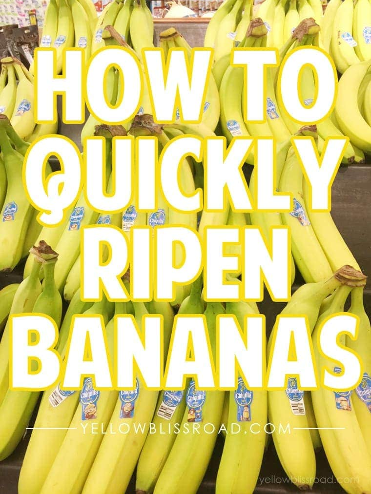 How to quickly ripen bananas in the microwave
