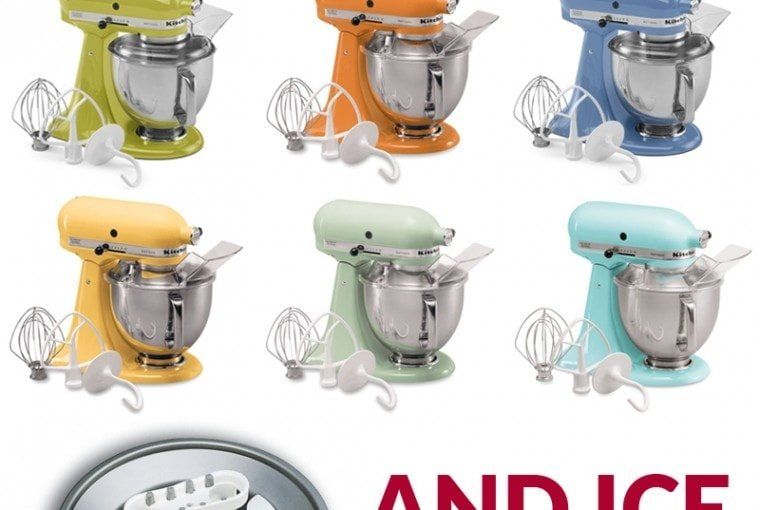 GIVEAWAY! KitchenAid Mixer with Ice Cream Attachment